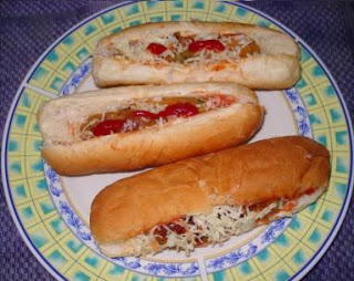 Indian Style Veg Hot Dog