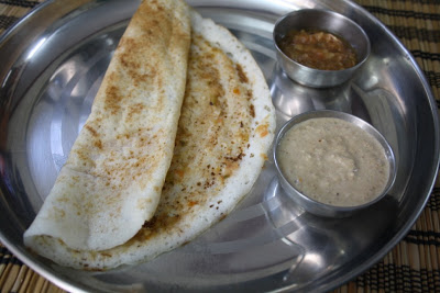 Dosa with Curried Green Chili Spread