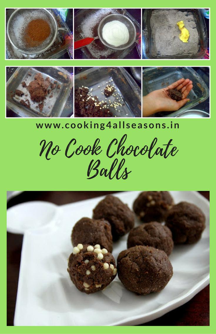No Cook Chocolate Balls