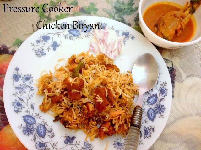 Pressure Cooker Chicken Biryani