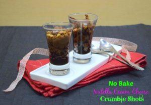 No Bake Nutella Cream Cheese Crumble