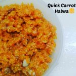 Quick Carrot Halwa