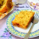 Eggless Pineapple Tea Cake