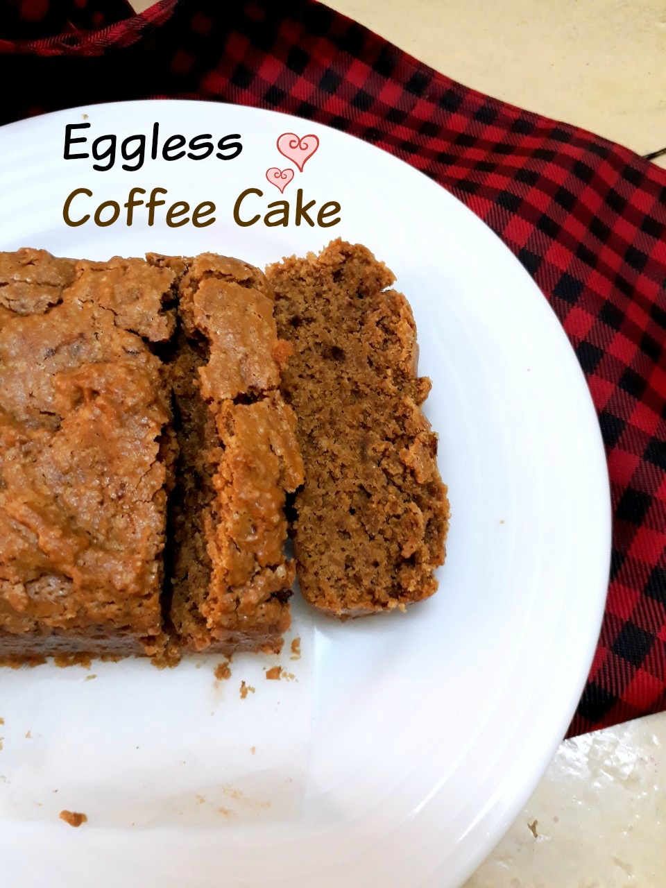 Eggless Coffee Cake