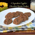 4 Ingredient Eggless Chocolate Rosette Cookies