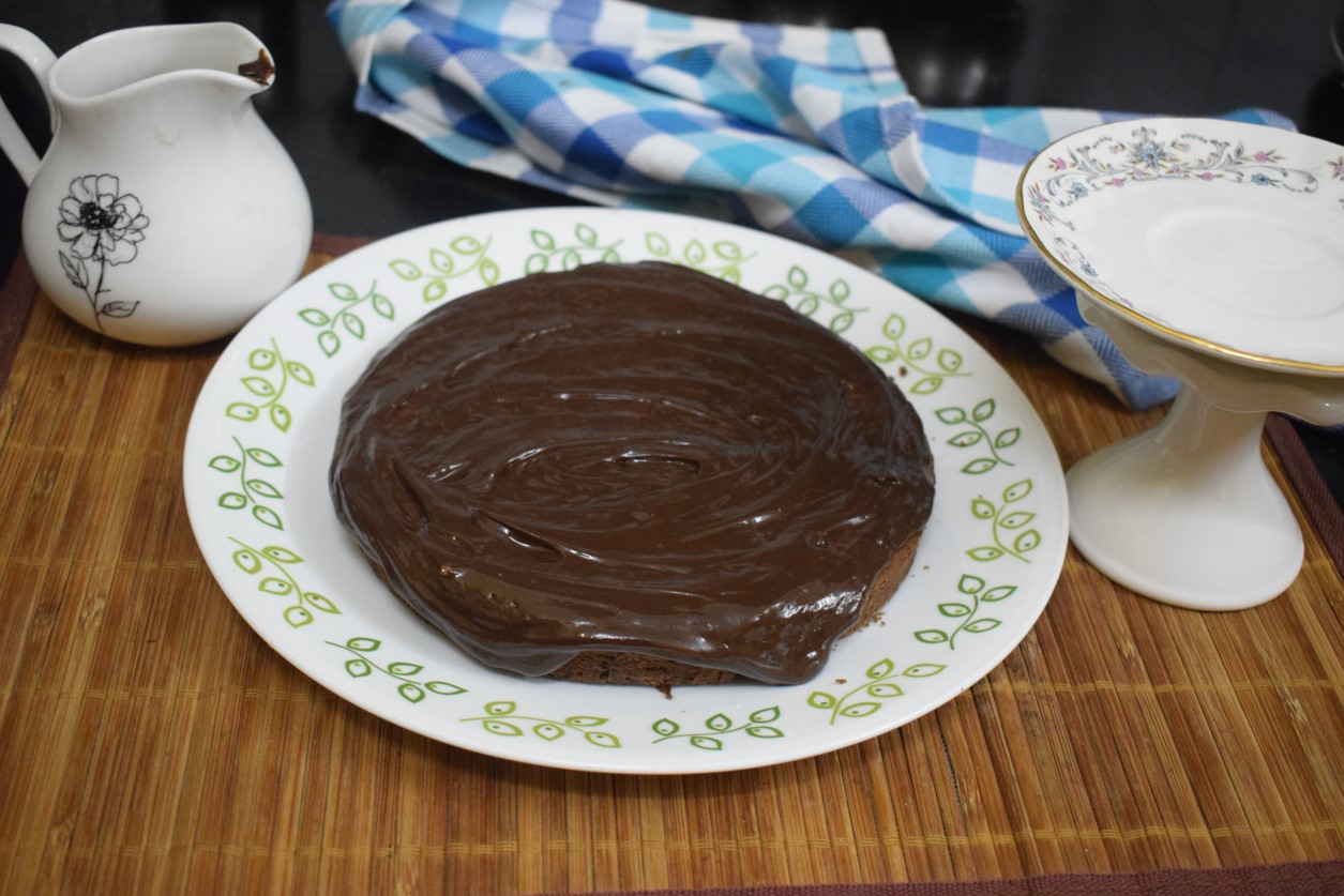 Eggless Chocolate Pound Cake