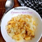 Microwave Delaware Apple Crisp