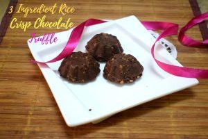 3 Ingredient Rice Crisp Chocolate Truffle