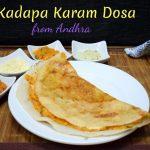 Kadapa Karam Dosa