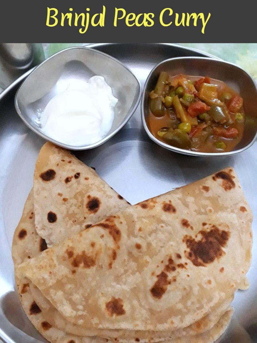 Brinjal Peas Curry