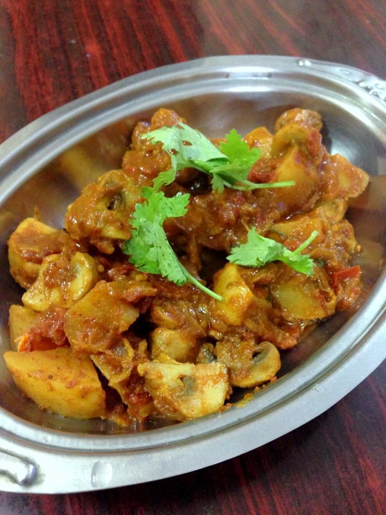 Mushroom Aloo Sabzi
