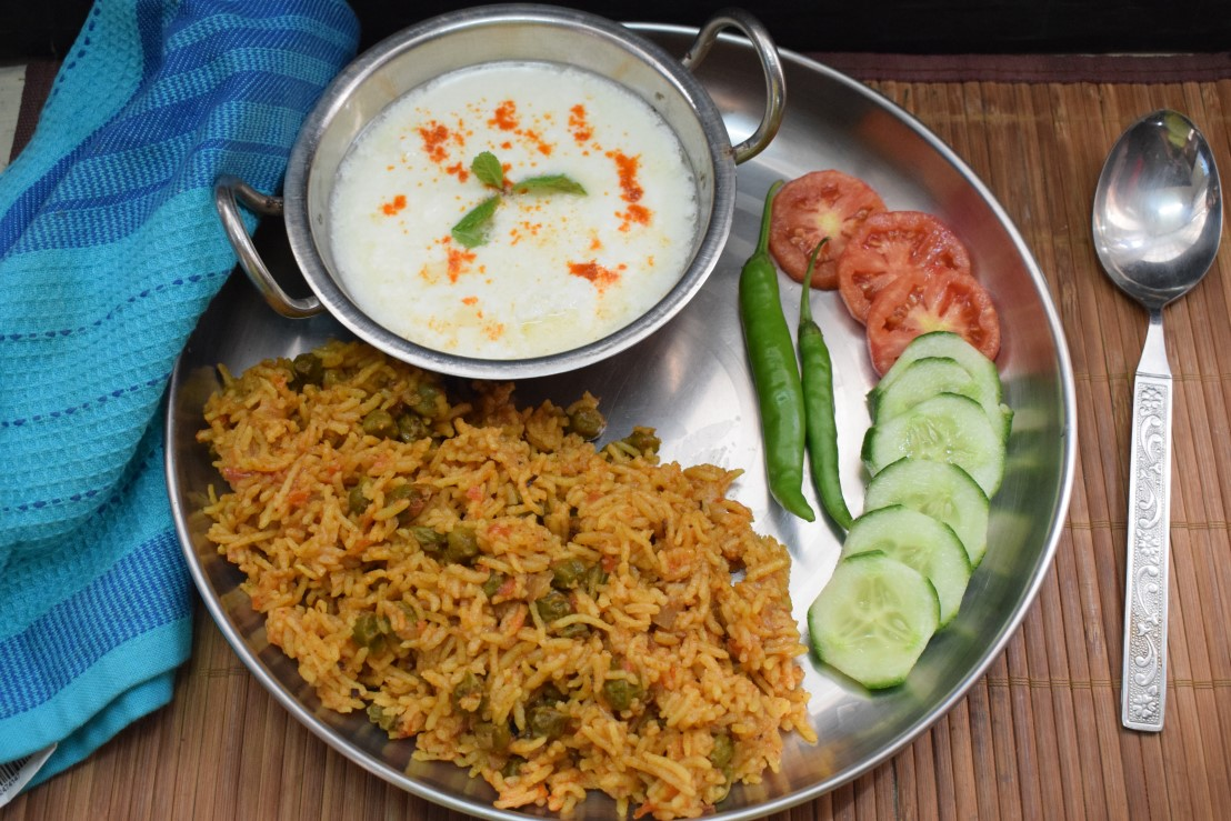 Green Chana Pulao