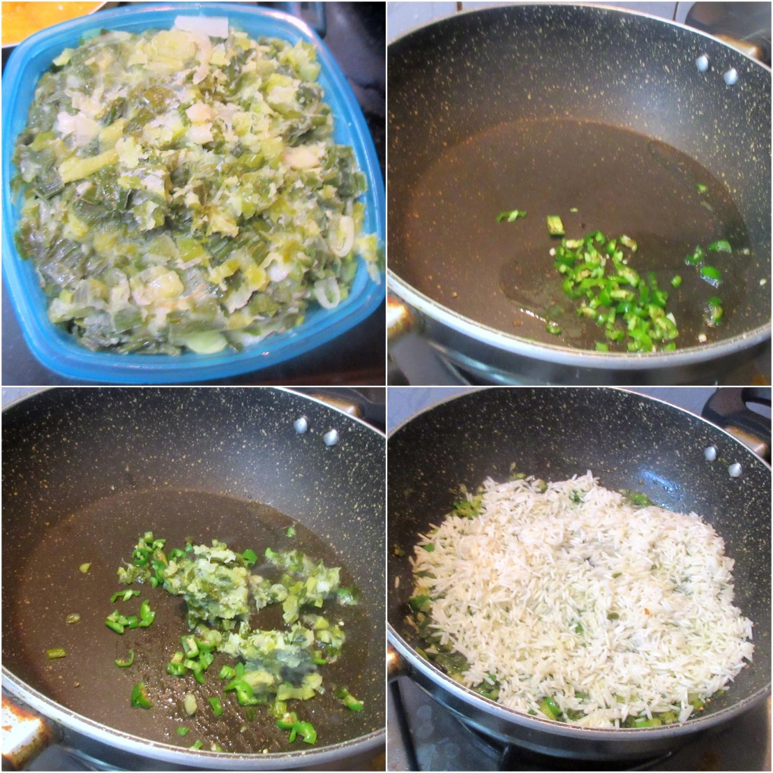 Green Garlic Pulao 1