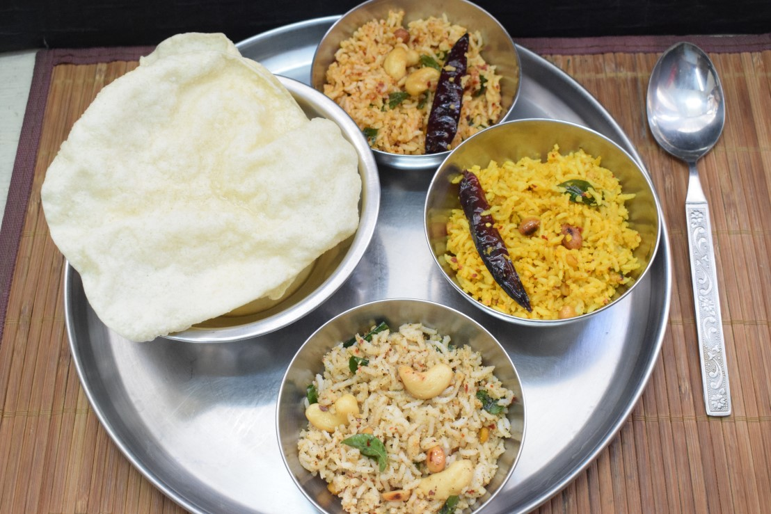 Mixed Rice Dishes from Tamil Nadu