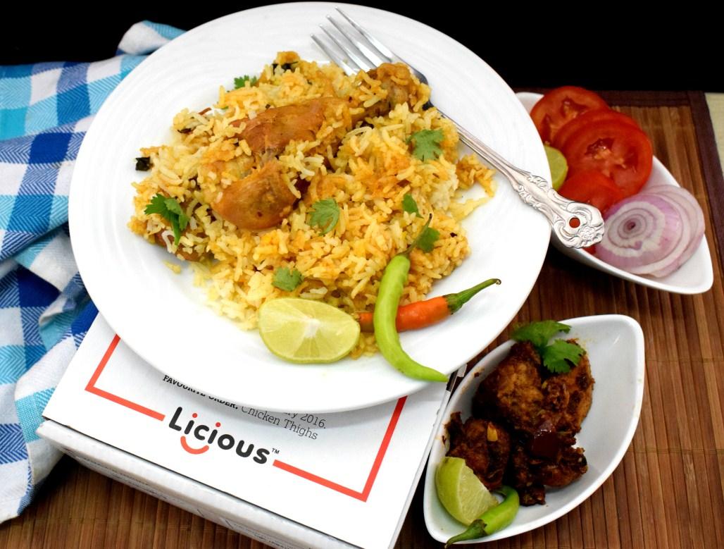 Nawabi Chicken Biryani with Licious