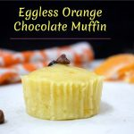 Eggless Orange Chocolate Muffin