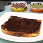 Caramel Chocolate Sauce on Toast