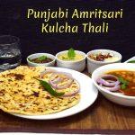 Punjabi Amritsari Kulcha Thali