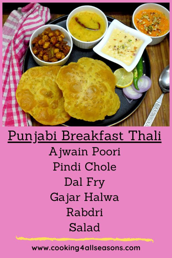 Punjabi Breakfast Thali