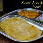 Stuffed Aloo Poori with Xacuti Masala