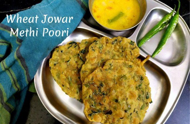 Wheat Jowar Methi Poori